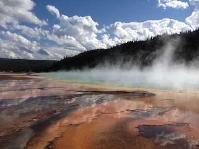 Biscuit Basin Yellowstone National Park Wyoming United States