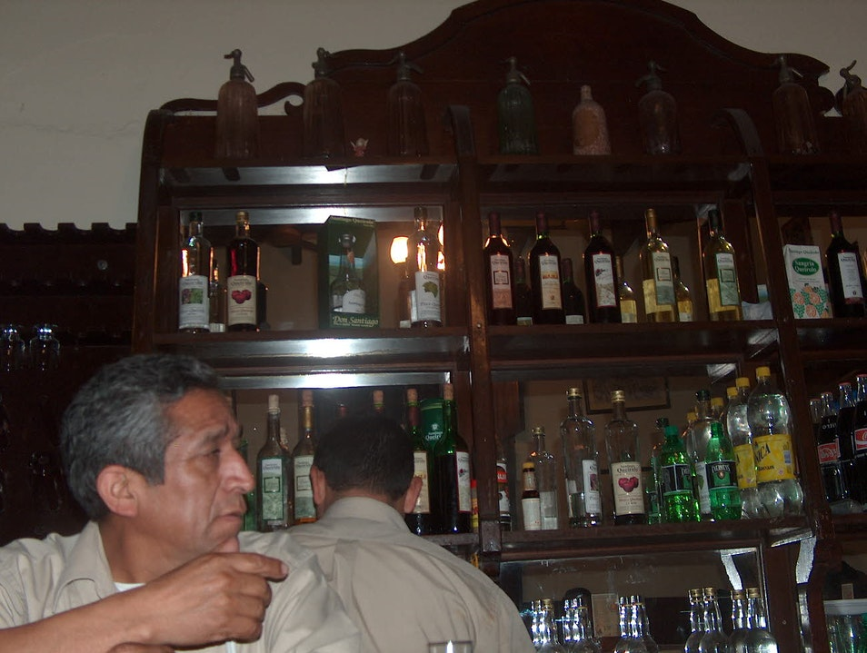 Lima's best place to drink pisco with locals Lima  Peru
