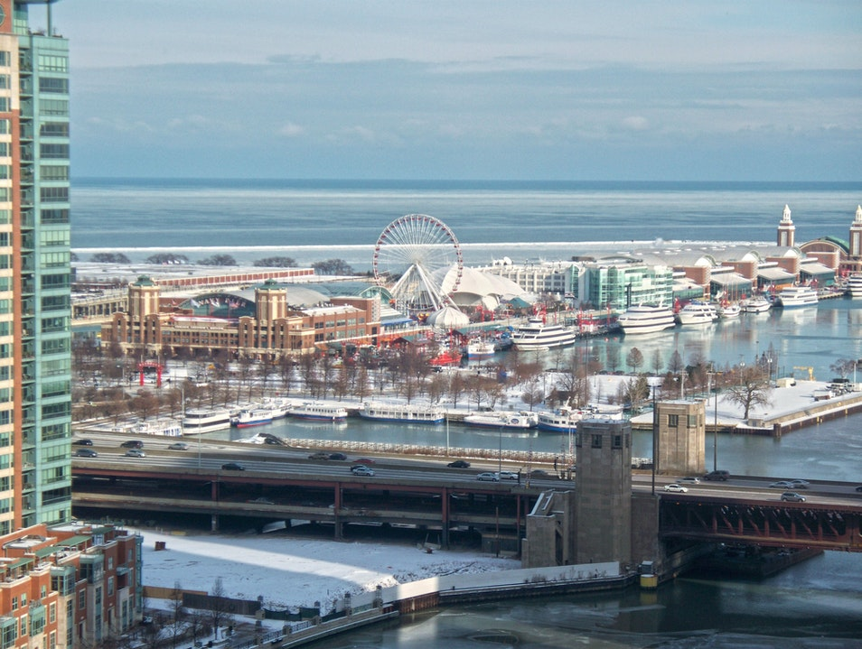 Spectacular view of the Navy Pier