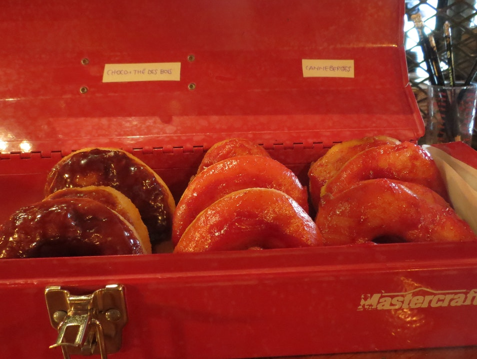 Coffee, Donuts and Gourmet Hot Dogs on Fairmont Montreal  Canada