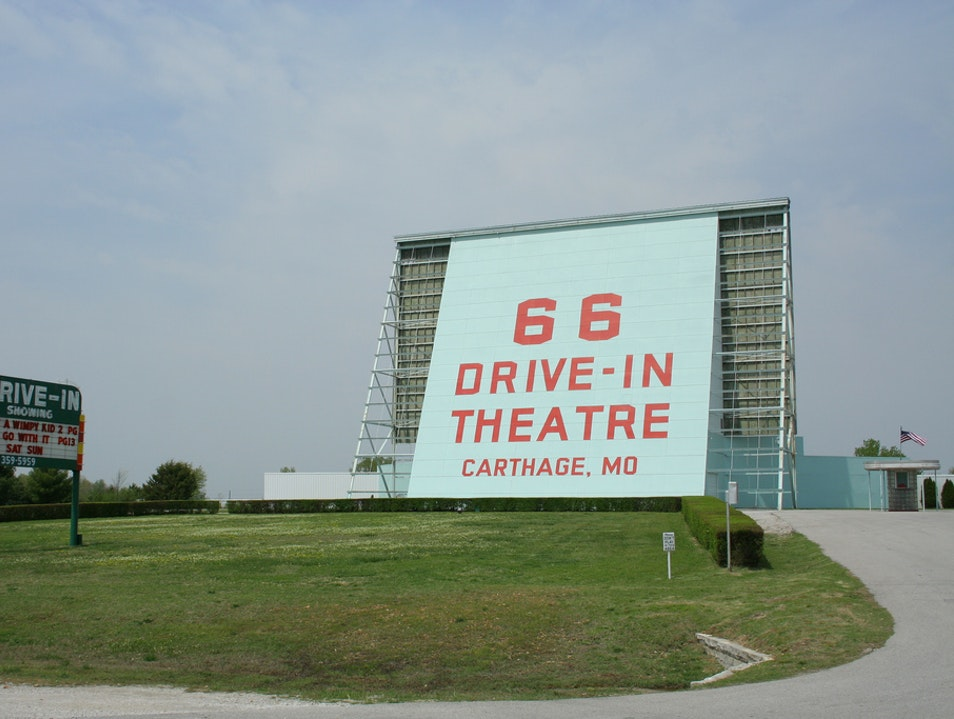 Drive-In Theater on Rt. 66 Carthage Missouri United States