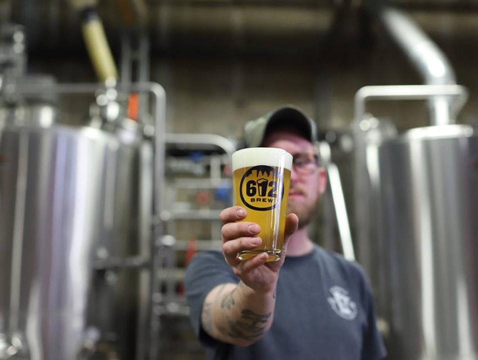 Brewing Beer at 612Brew Minneapolis Minnesota United States