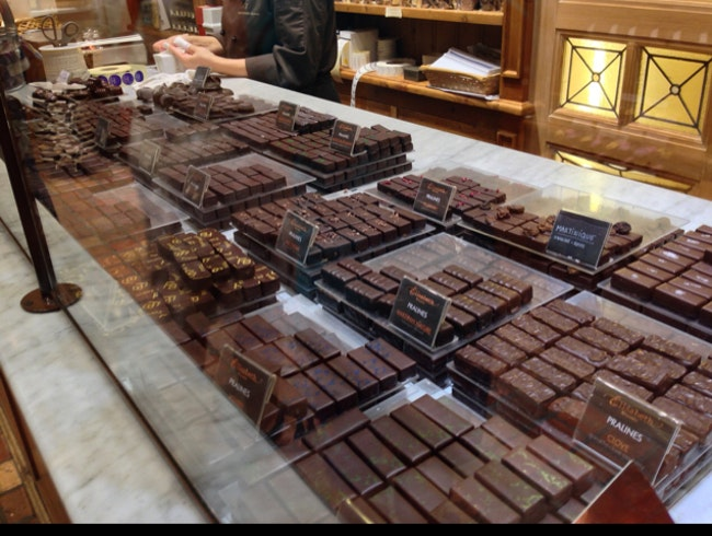 When in Brussels, eat chocolate!