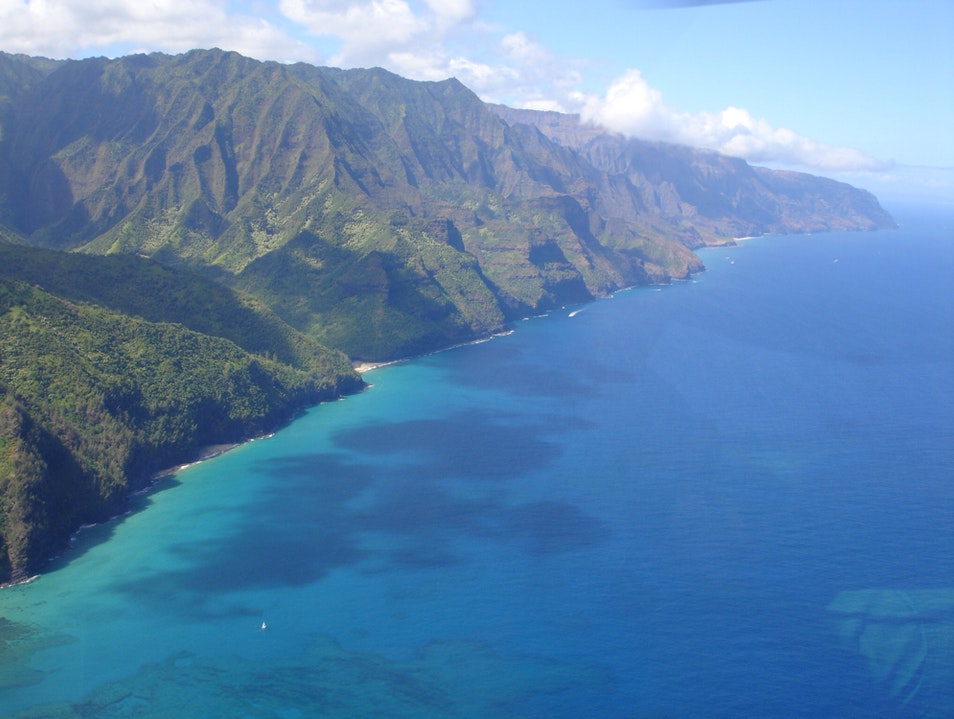 Helicopter View Of Napali Coast  Hawaii United States
