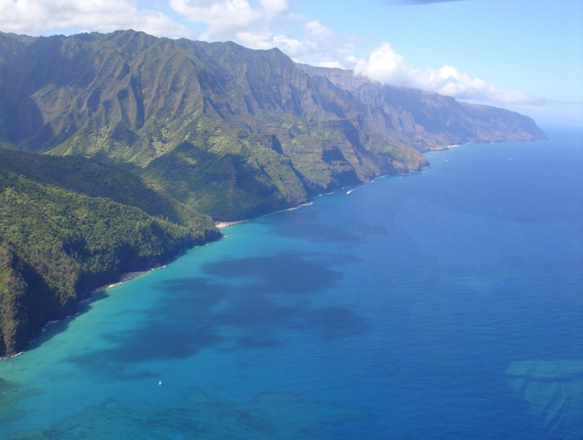 Helicopter View Of Napali Coast