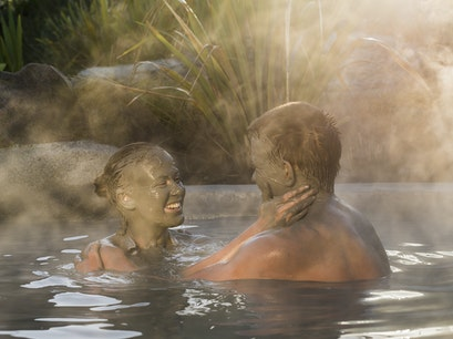 Hells Gate Geothermal Park and Mud Bath Spa Horohoro  New Zealand