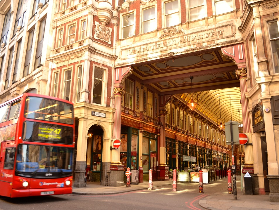 The Victorian market in the middle of London's financial centre London  United Kingdom