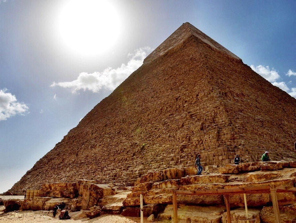 Pyramids of Giza Inside and Out