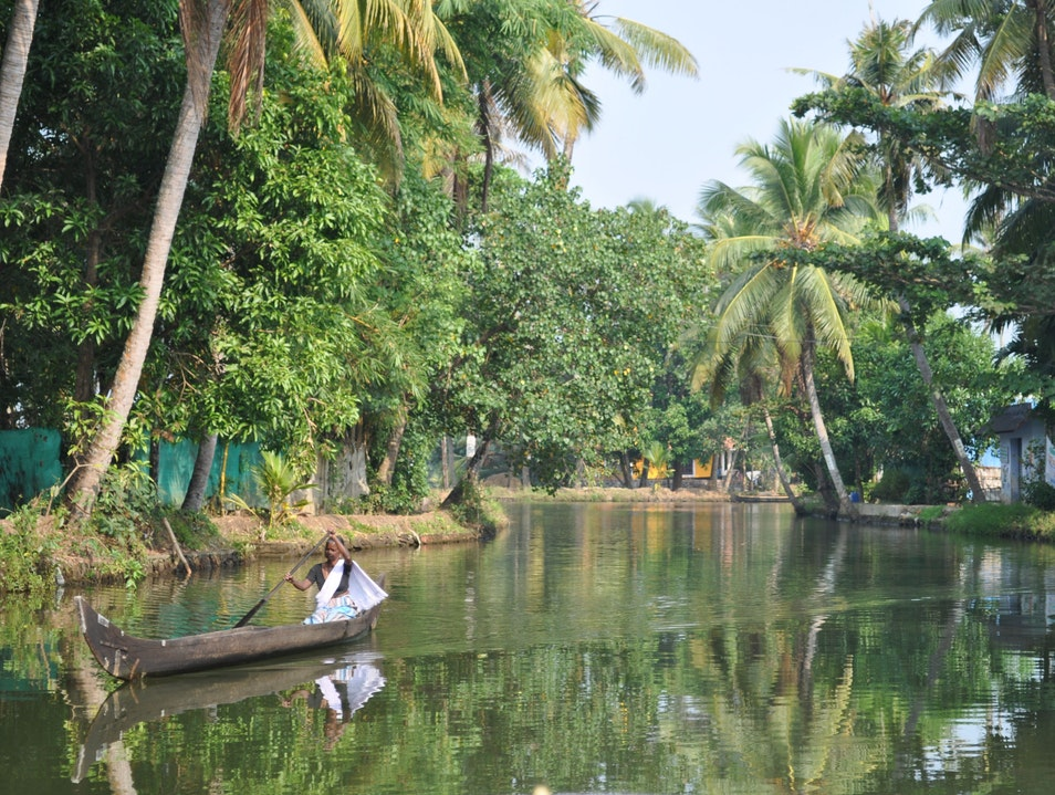 A Ride Through the Kerala Backwaters Kainakary  India