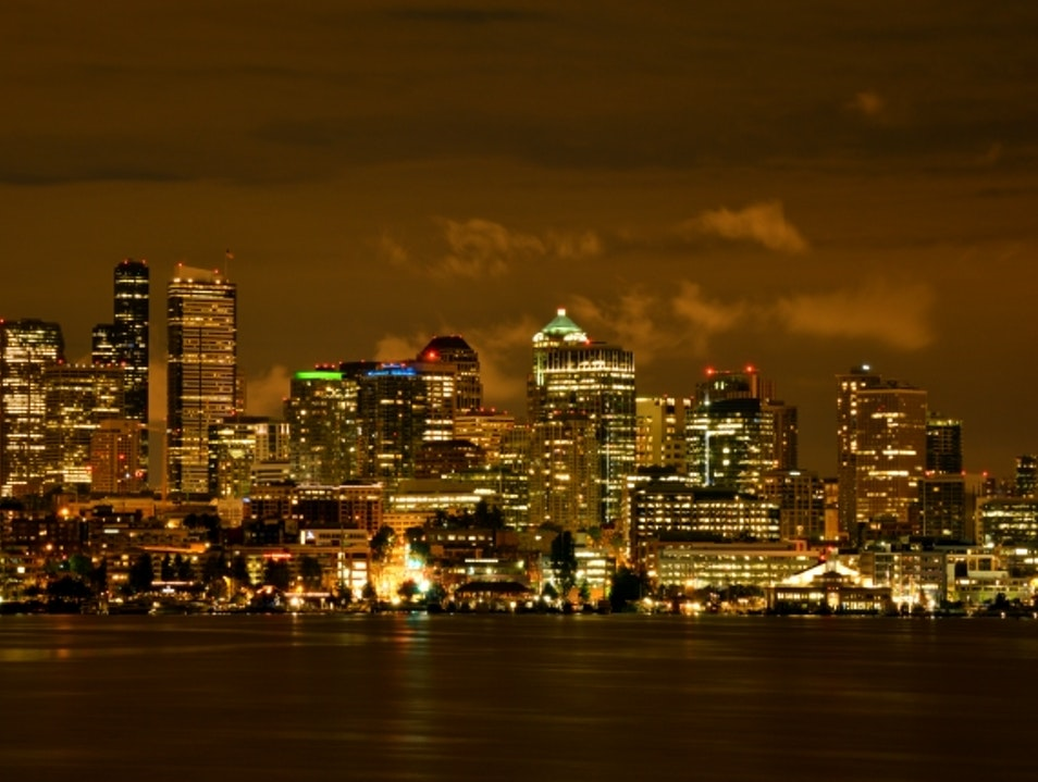 History, Graffiti & Seattle Skyline Seattle Washington United States