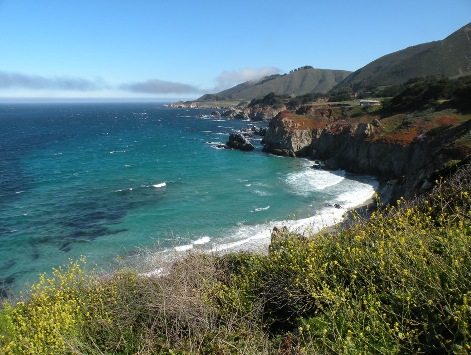 Gorgeous drive along California coastline Big Sur California United States
