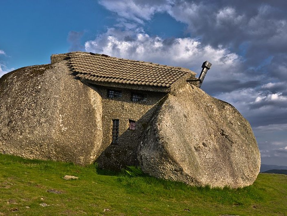 Note to Wilma: Stone Houses? Odd, but cool in Portugal  Fafe  Portugal