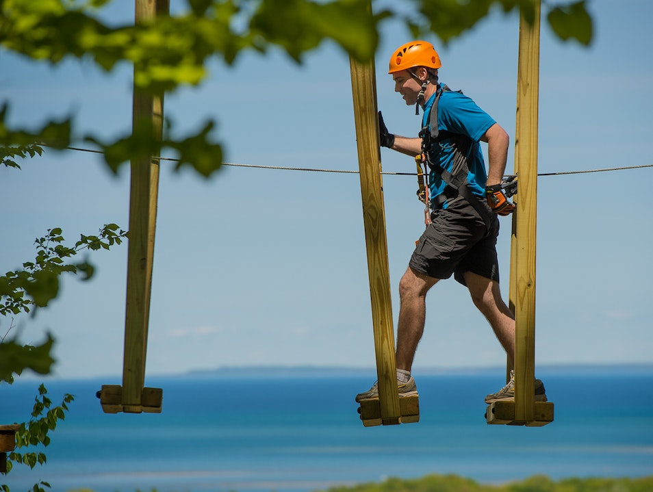 Walk the Timber Ropes