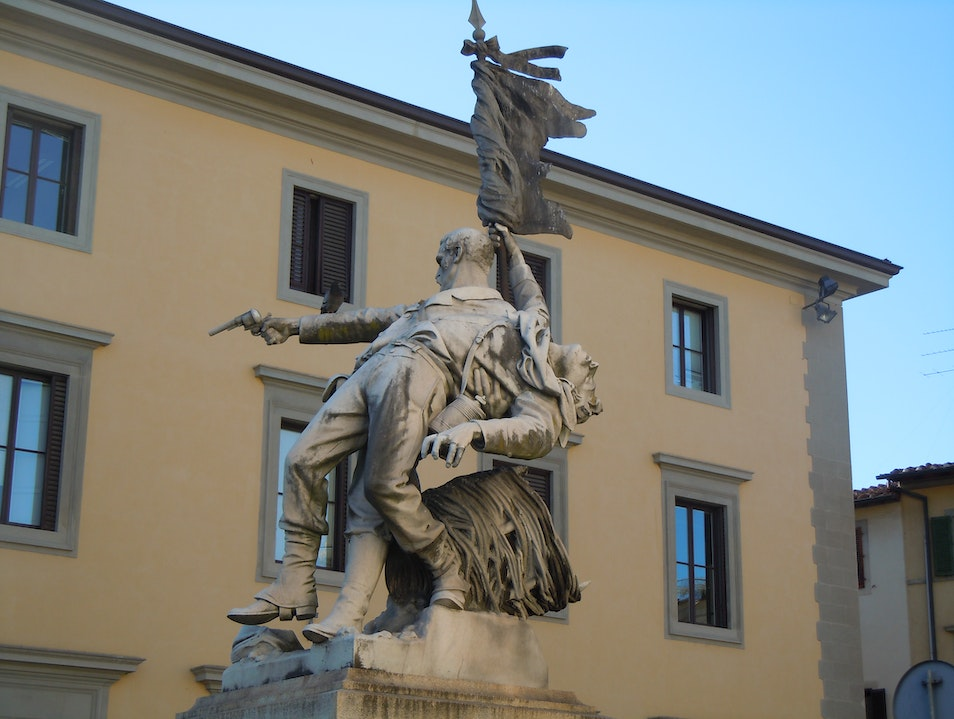 Florentine Statue: The Battle of Mentana Florence  Italy