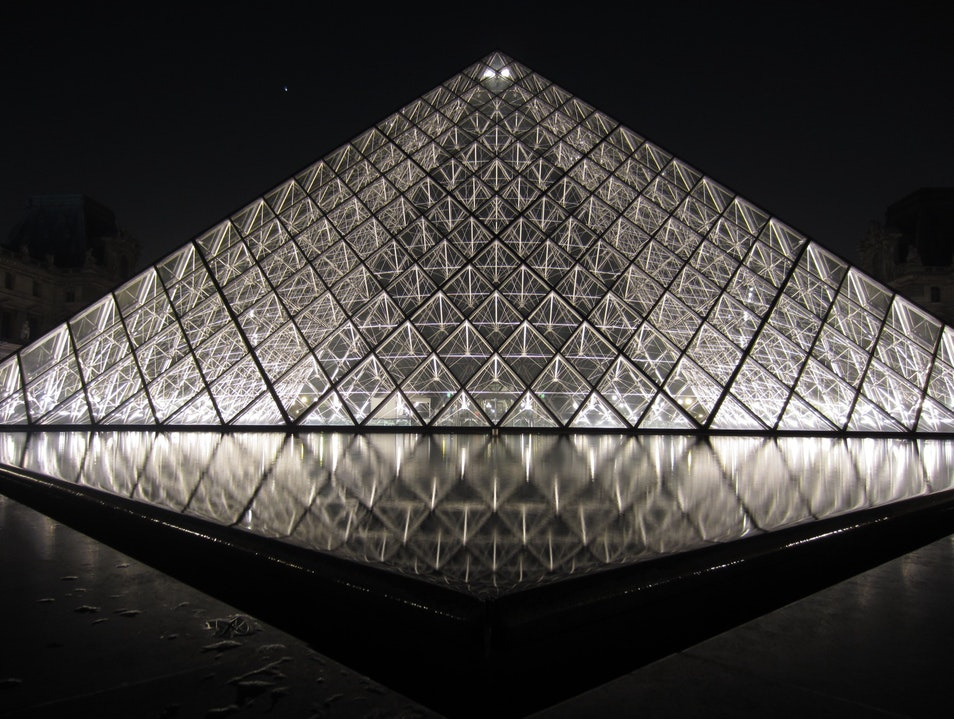 The Louvre at night    France