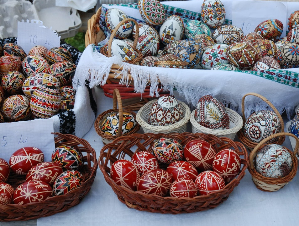 Painted Eggs in Bucharest