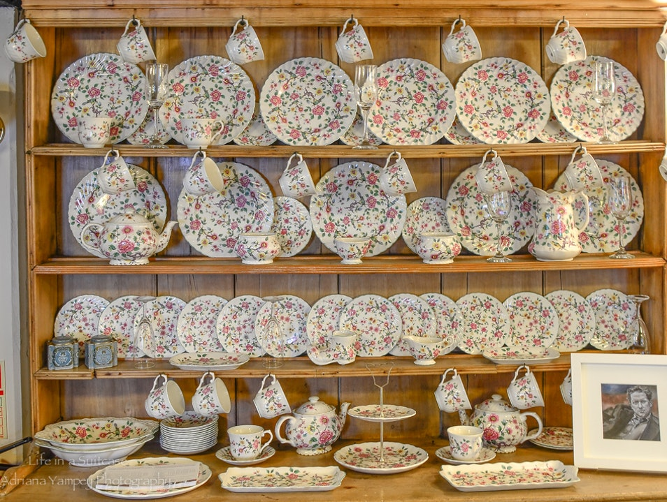 Tea room display  Laugharne  United Kingdom