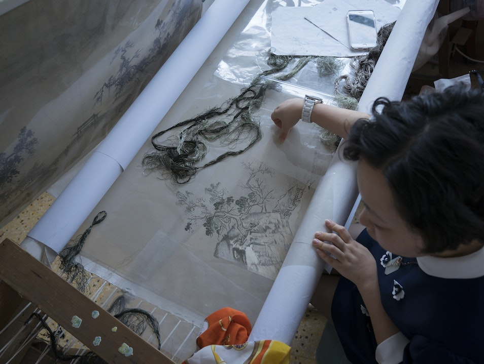 Silk Embroidery Institute – Artists at Work Suzhou  China