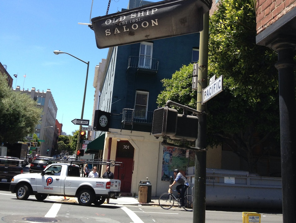In the hood at AFAR SF: Old Ship Saloon for a quickie San Francisco California United States