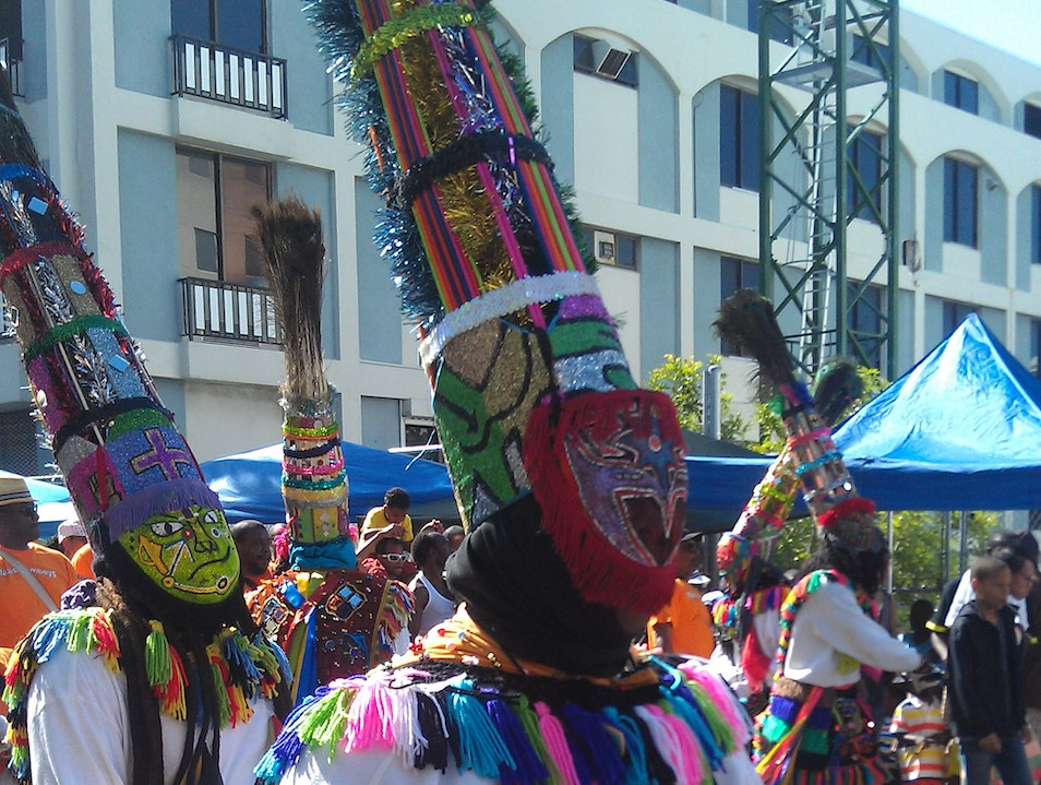 Dancing with the Gombeys in the Bermuda Day Parade