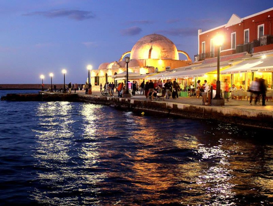 East Meets West in Chania Harbor