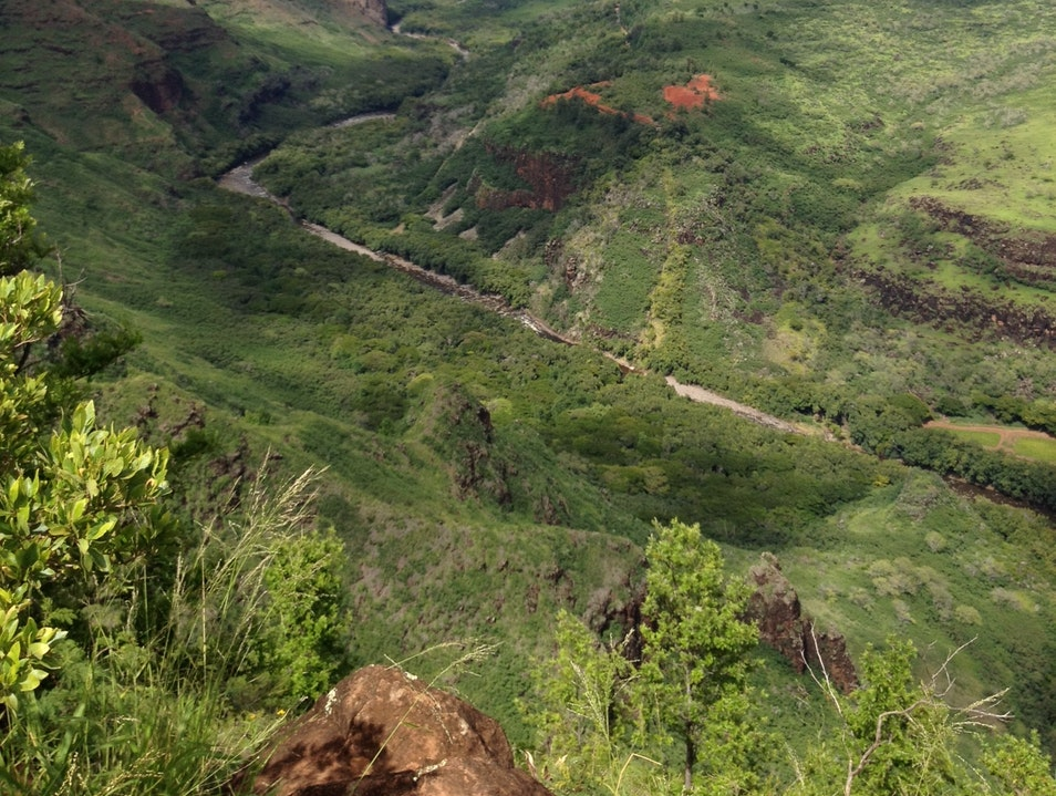 Looking down at Waimea Canyon Waimea Hawaii United States