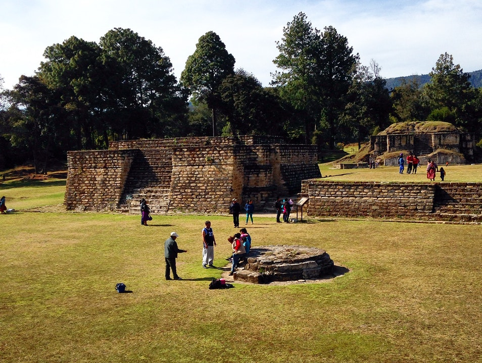 Mayan ruins easily explored. Chimaltenango  Guatemala