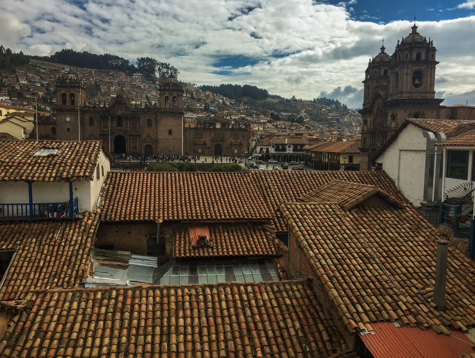 Sunday Morning in the Square Cuzco  Peru