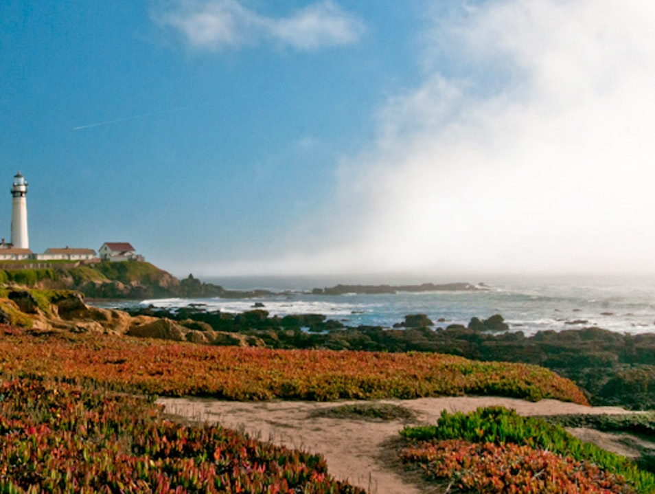 Pigeon Point Lighthouse As The Fog Rolls In PESCADERO California United States