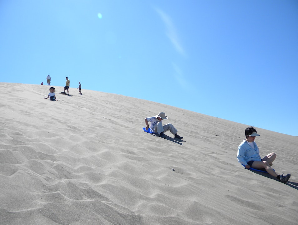 Sandboarding in Idaho Bruneau Idaho United States