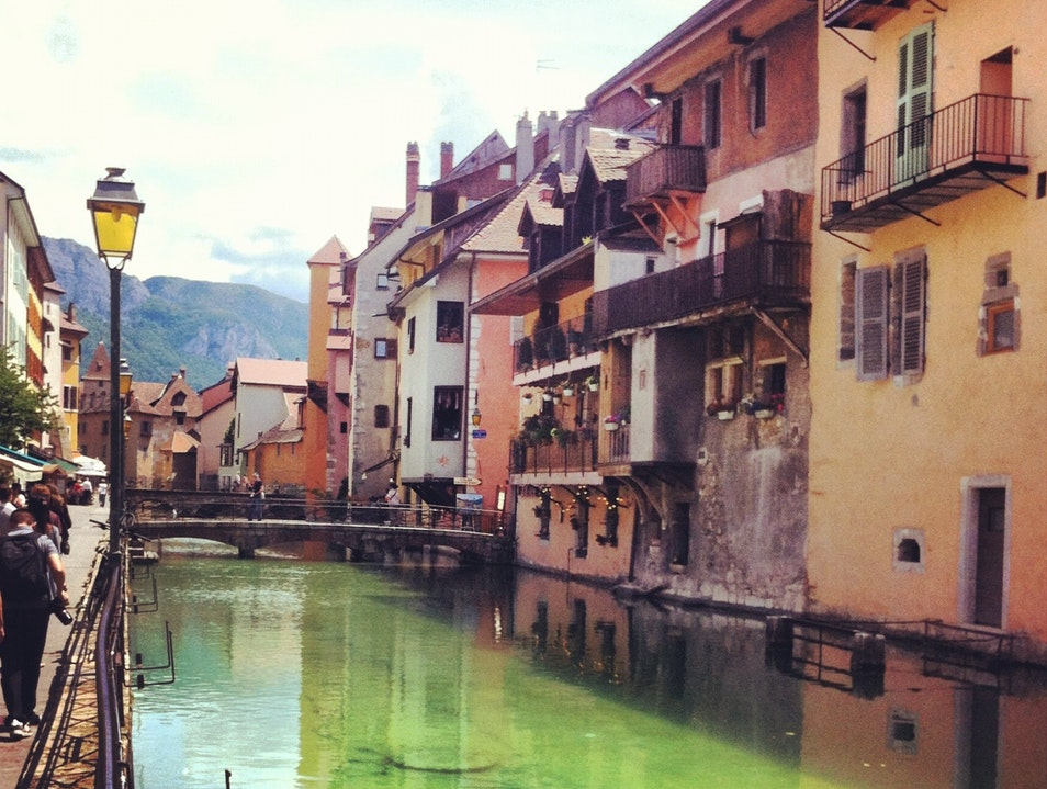 Beautiful winding canals Annecy  France