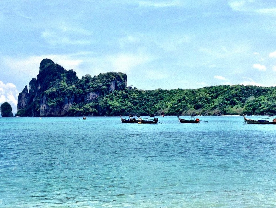 Long Tail Boats in Railay