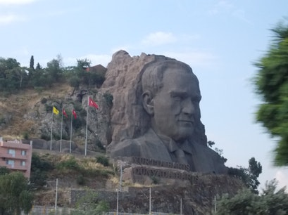 ataturk rock sculpture attraction Izmir  Turkey