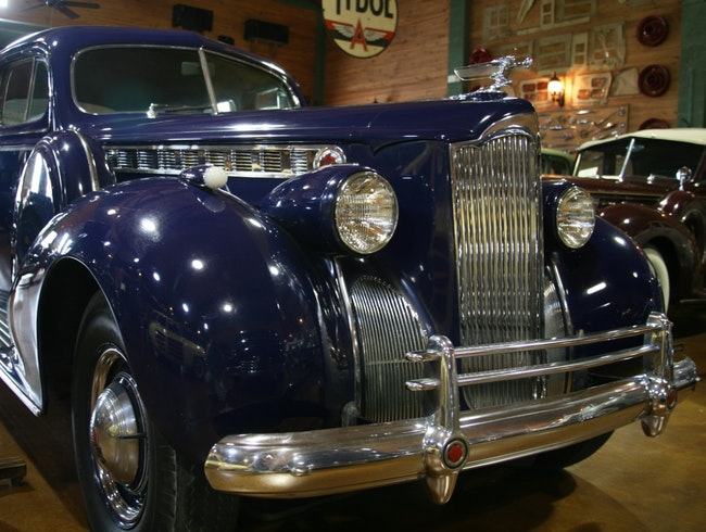 Check out the Packards at the Antique Car Museum