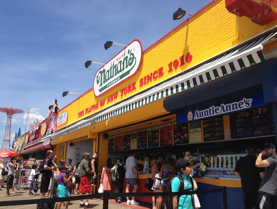 Nathan's on the Coney Island Boardwalk New York New York United States