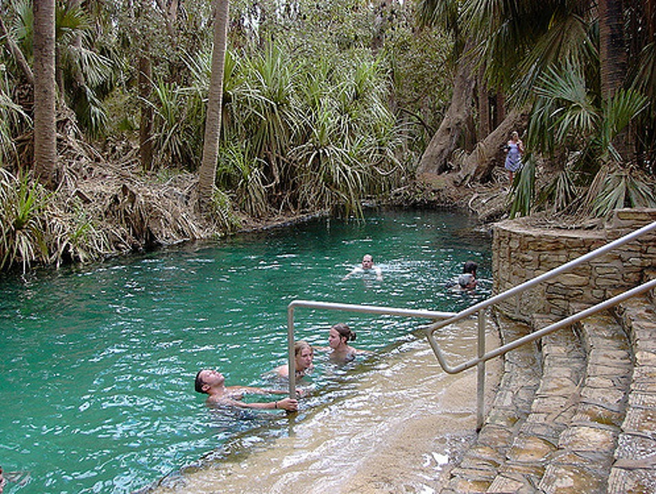 Hot Springs in Elsey National Park Elsey  Australia