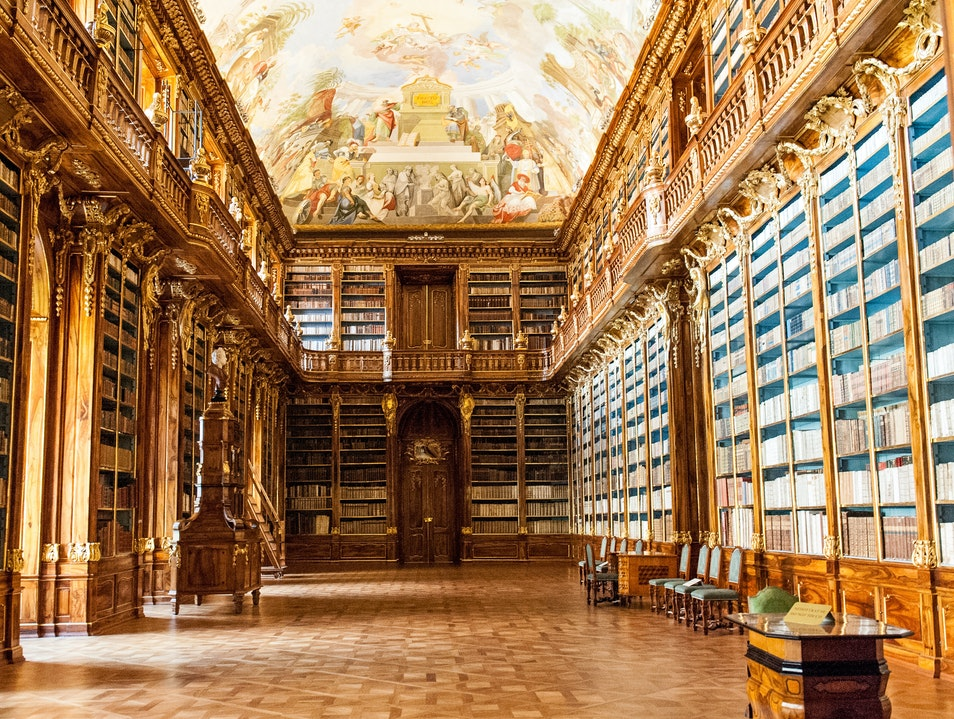 Fairy-Tale Library & Panoramic Views Prague  Czech Republic