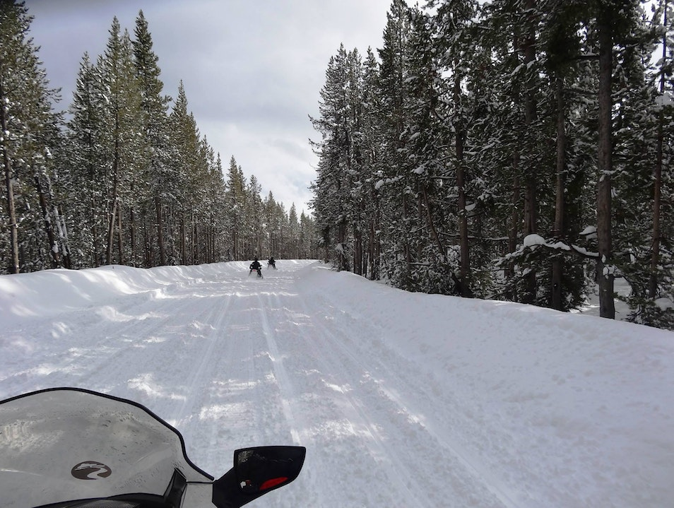 Snowmobile to Old Faithful
