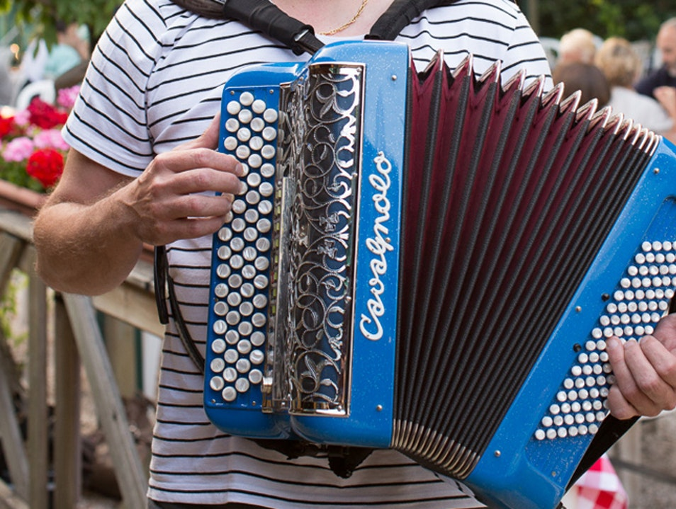 Guingette Auvergnate: Accordion Music and Dancing on the Seine Villeneuve Saint Georges  France