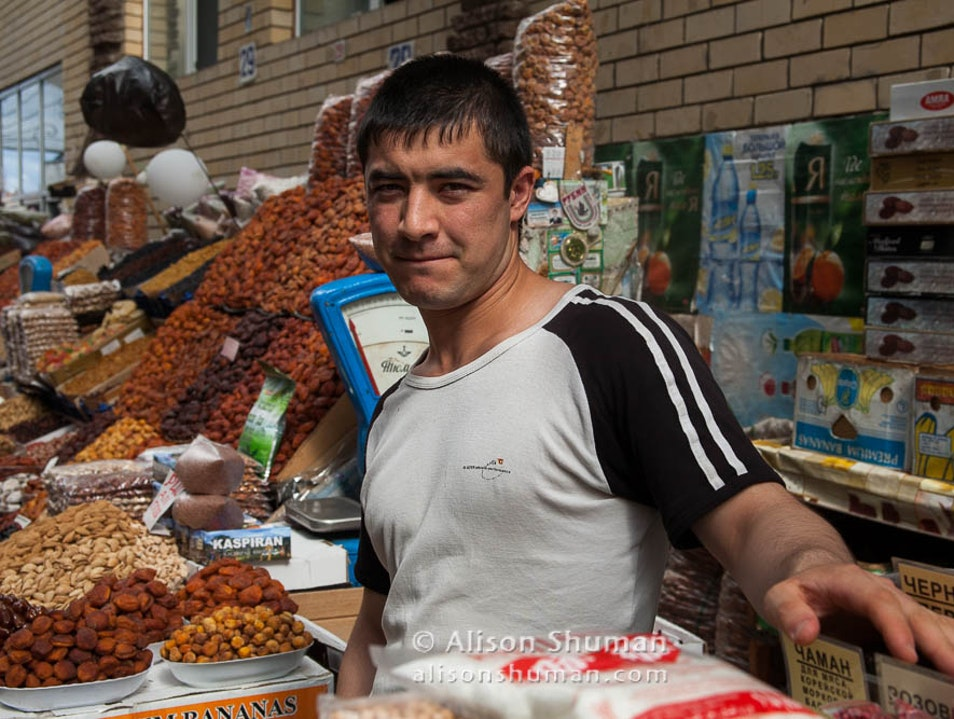 At the Central Market Kazan'  Russia