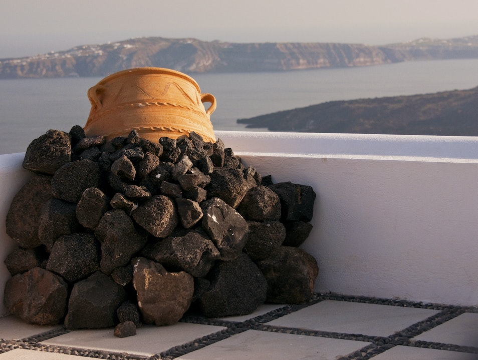 Unlikely Art: Volcanic Rock Thira  Greece