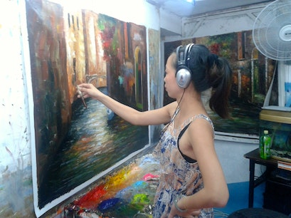 Wushipu Oil Painting Village Xiamen  China