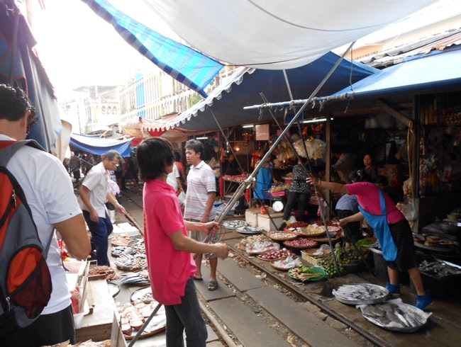 Train Market Near Bangkok