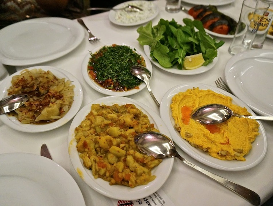 Turkish meze spread Istanbul  Turkey