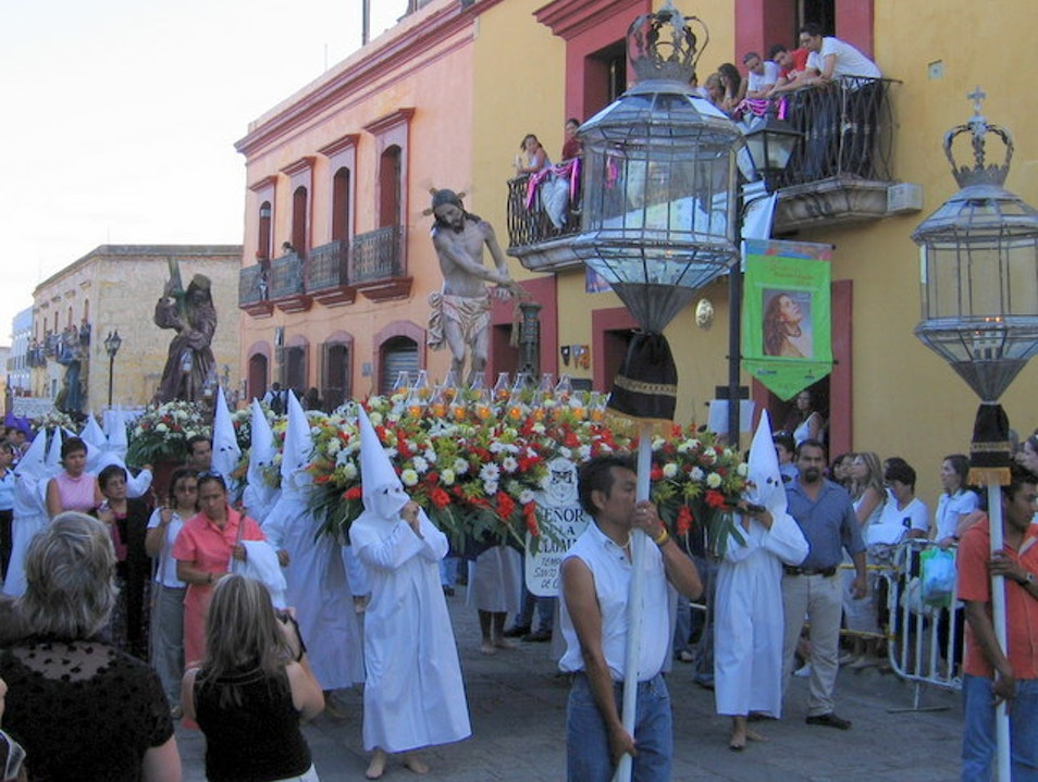 Good Friday Silent Procession Oaxaca  Mexico