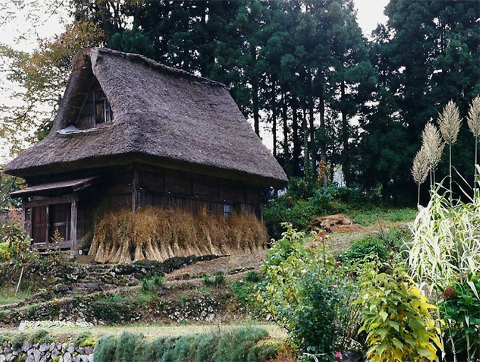 Residents still live & farm in this historic village Nanto  Japan