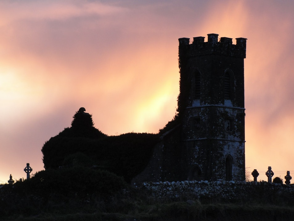 Gorteen Castle at dawn Sligo  Ireland