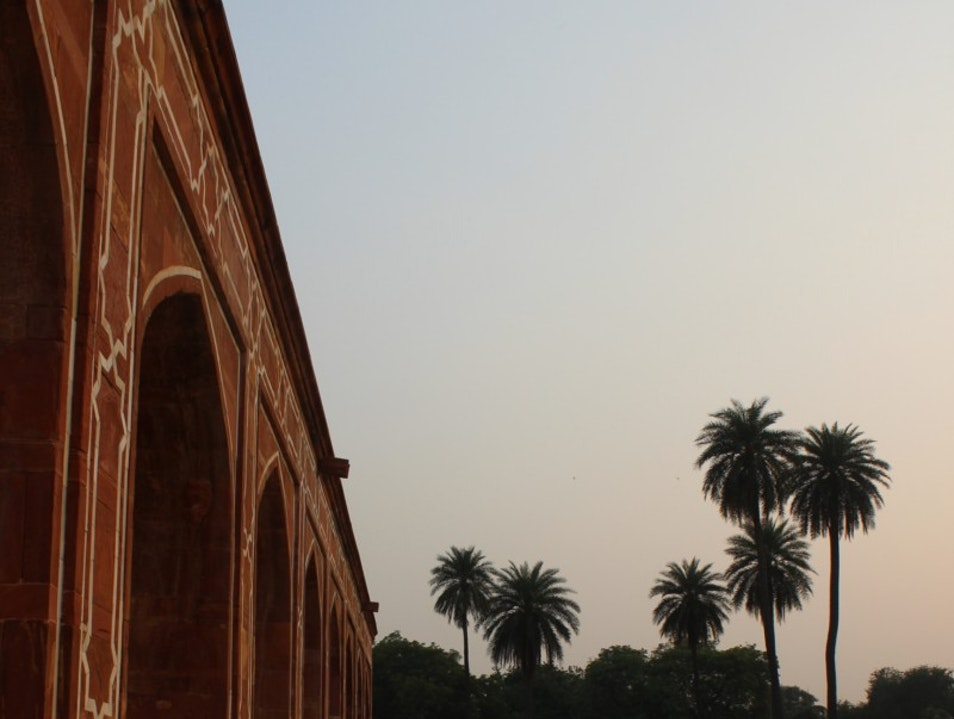 First substantial example of Mughal architecture in India, with a magnificent view of gardens surrounding it. New Delhi  India