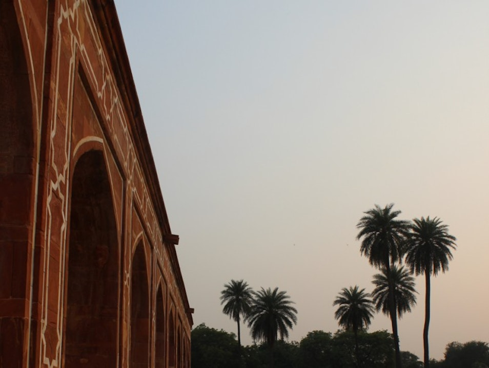 First substantial example of Mughal architecture in India, with a magnificent view of gardens surrounding it.