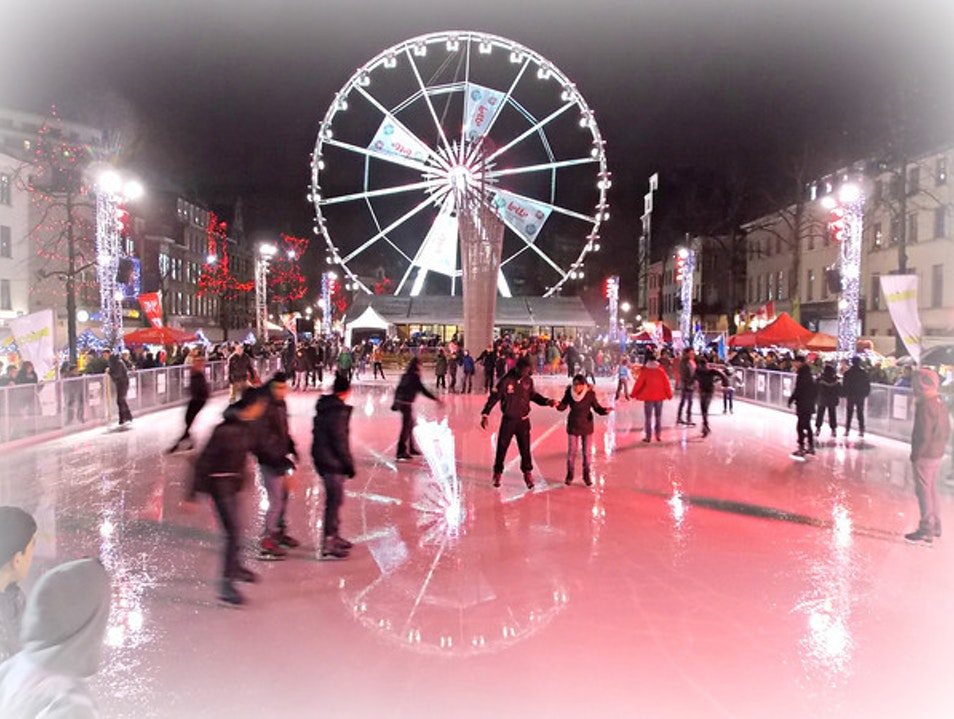 Brussels Christmas Market on ice